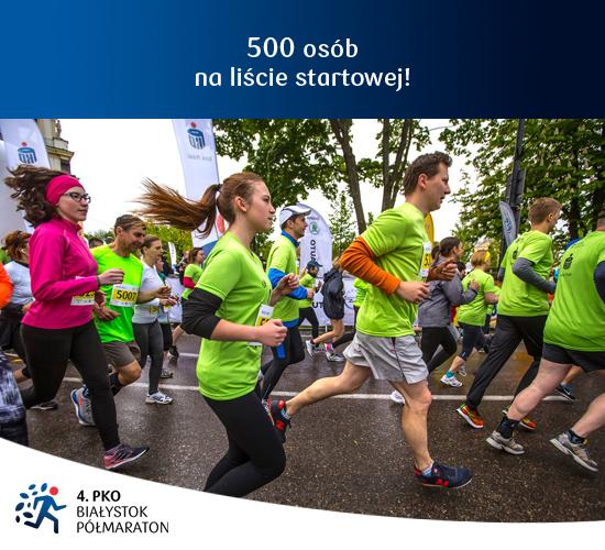 4. PKO Białystok Półmaraton 500 osób na liście startowej